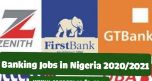 banking jobs in Nigeria 2020/2021