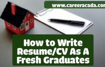 Resume For Fresh Graduates