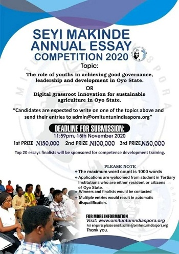 Seyi Makinde Annual Essay Competition